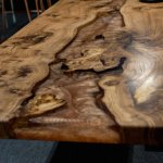 Copper resin river coffee table